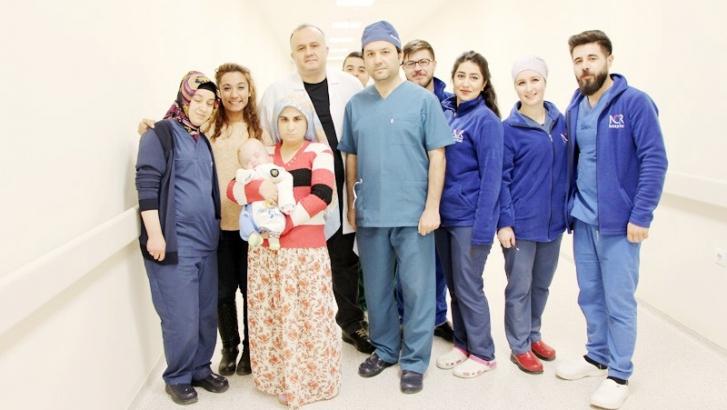 Hidrosefali hastalığı olan bebek sağlığına kavuştu