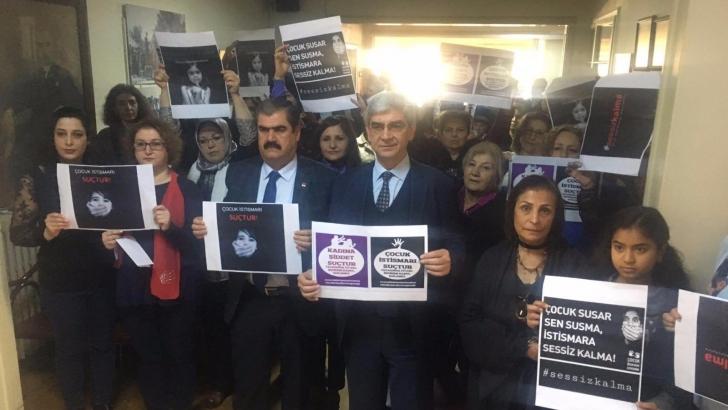 CHP'li kadınlardan çocuk istismarı tepkisi