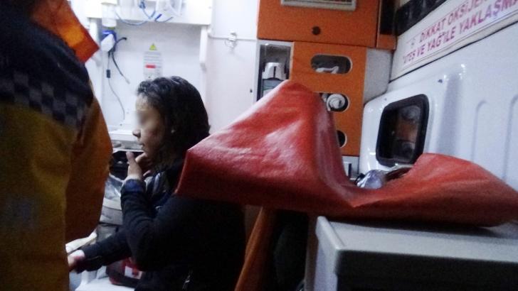 Sinir krizi geçiren genç kız, oturduğu evi yaktı