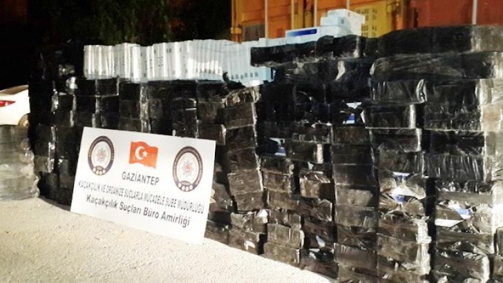 20 bin 100 paket kaçak sigara ele geçirildi
