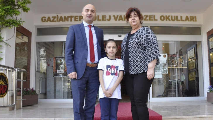 GKV'li Zeynep birinci oldu