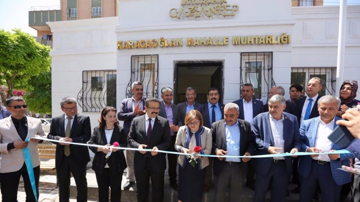 Karacaoğlan mahalle muhtarlığı hizmete açıldı
