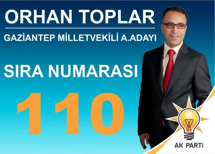 Orhan Toplar'ın temayüldeki sıra numarası 110