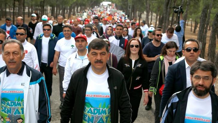 'Sağlıklı yaşam' için yürüdüler