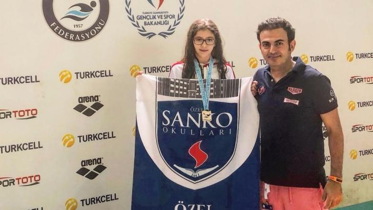 SANKO Okulları yüzücüsü Türkiye ikincisi oldu