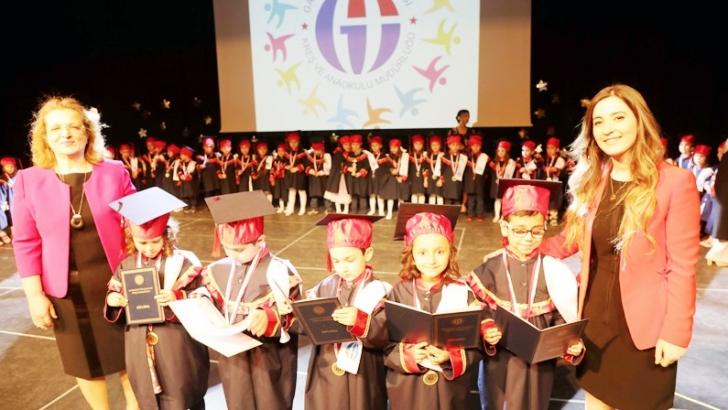 GAÜN miniklerinin mezuniyet heyecanı