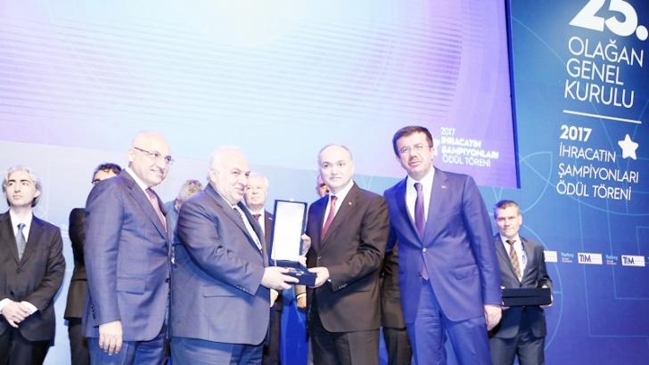 İhracat Şampiyonu Oba'ya TİM'den Ödül