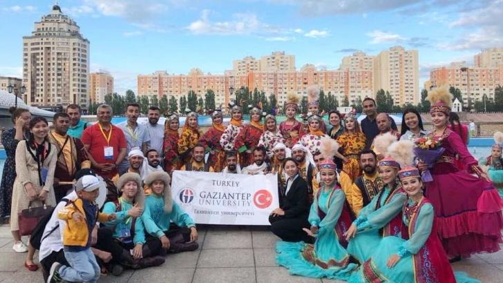 GAÜN TÜRKİYE'Yİ KAZAKİSTAN'DA TEMSİL ETTİ