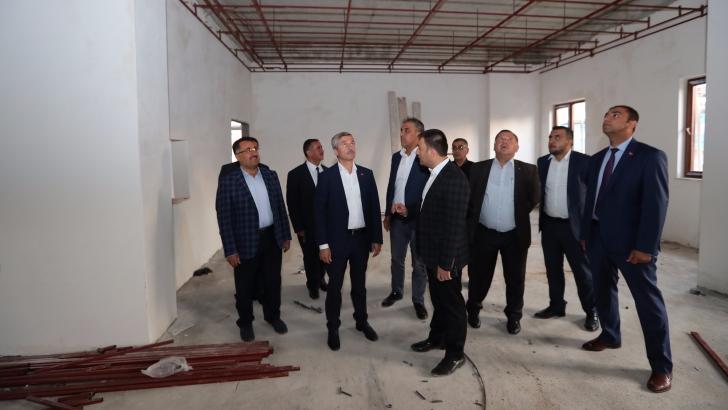KIBRIS MAHALLESİ'NİN SOSYAL TESİSİ HIZLA YÜKSELİYOR