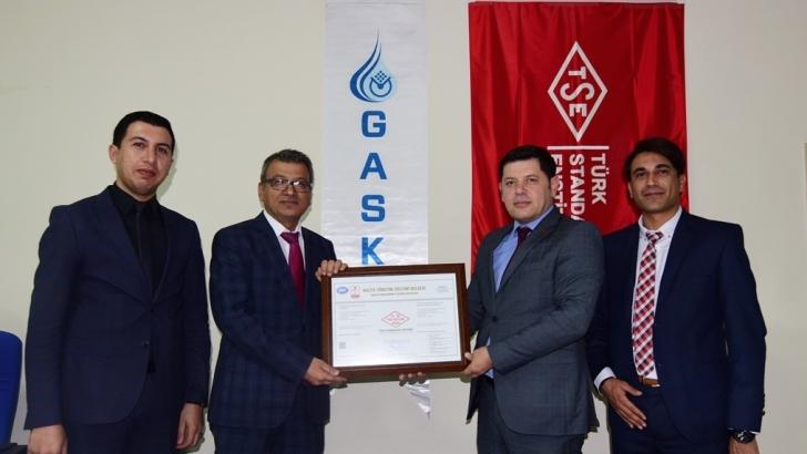 GASKİ, ISO 9001 BELGESİNİ YENİLEDİ