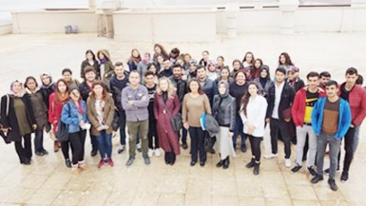 GAÜN öğrencileri teknik geziye katıldı