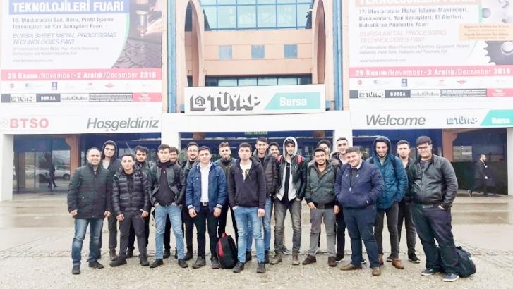 GAÜN Naci Topçuoğlu Meslek Yüksekokulu öğrencilerinden teknik gezi