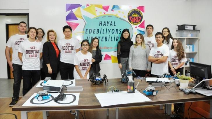 GKV Özel Liseleri Robotik-Kodlama atölyesi açıldı