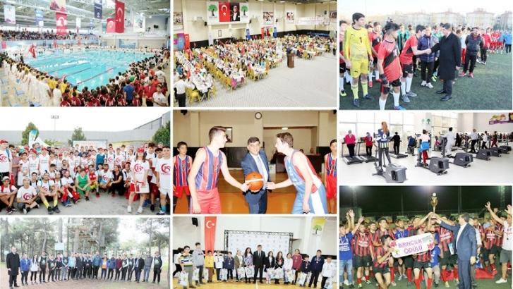 Şehitkamil'de bir yılda 100 bin üzerinde kişi spor yaptı