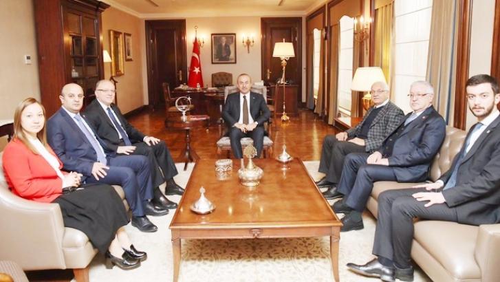 Vekillerden Bakan Çavuşoğlu'na ziyaret