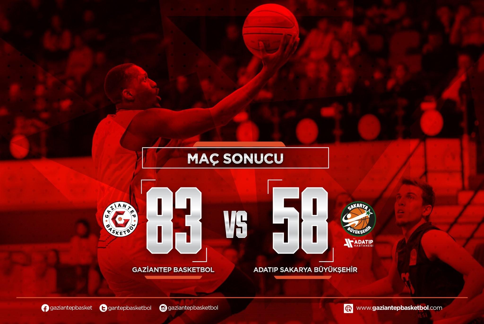 Gaziantep Basketbol fark attı
