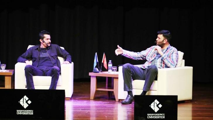 Ünlü oyuncular İsmail Hacıoğlu ve İsmail Hakkı HKÜ'de