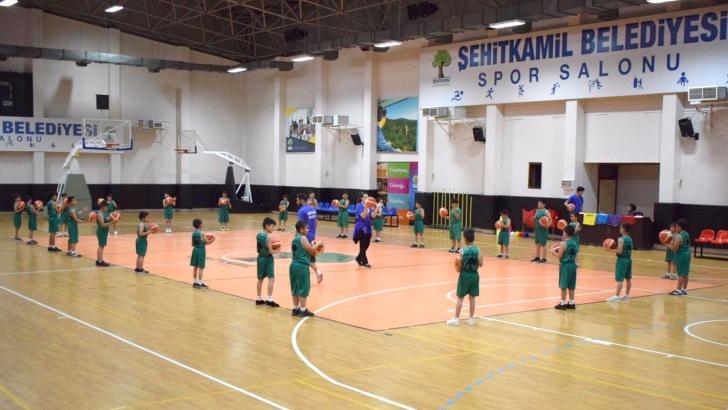 Çocuklardan basketbola büyük ilgi