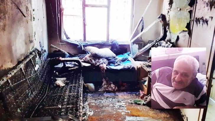 Oturduğu evi yakan felçli hasta hayatını kaybetti