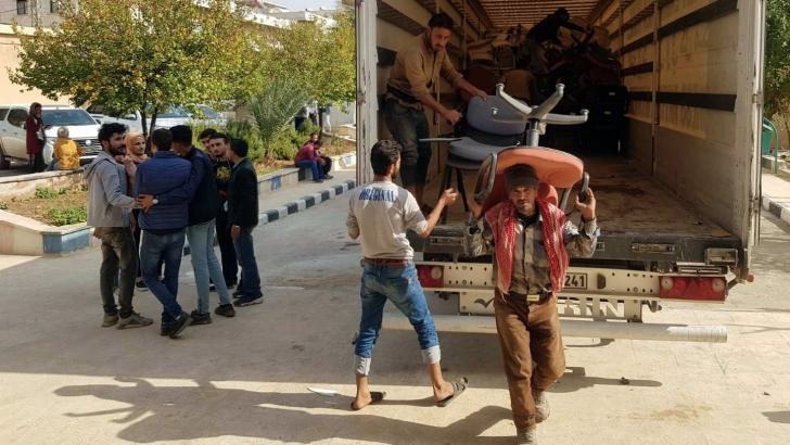 GAÜN'den Afrin'e bir TIR eğitim malzemesi