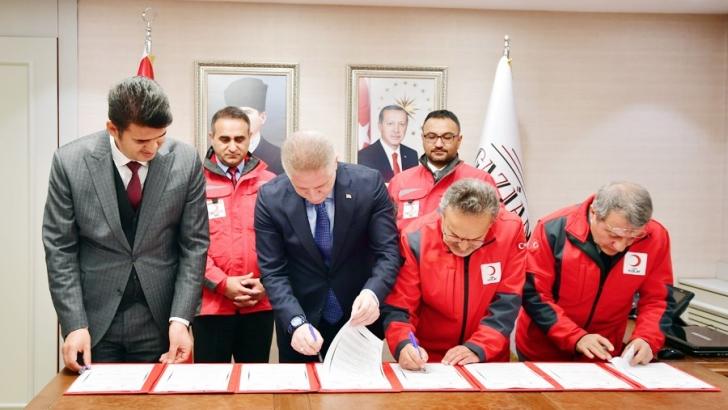 Gaziantep SYDV ile Kızılay işbirliği