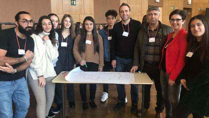 Aktopraklı öğrenciler Almanya'da Türkiye'yi temsil etti