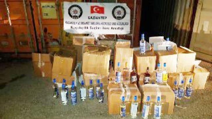 610 şişe sahte alkol ele geçirildi