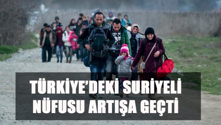 Suriyeli nüfus artıyor
