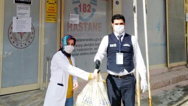 521 aile hekimine hijyen paketi ve maske verildi
