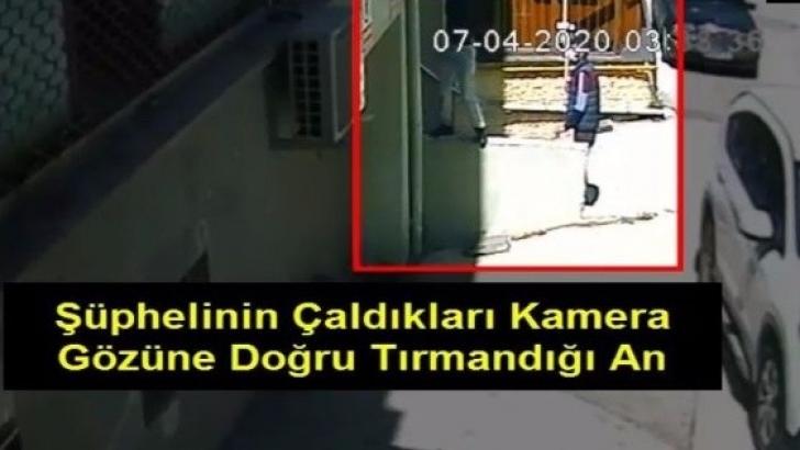 Güvenlik kamerası hırsızı yakalandı
