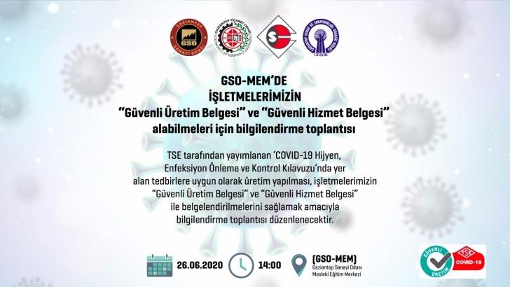 GSO-MEM'DE BİLGİLENDİRME TOPLANTISI DÜZENLENECEK