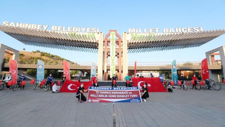 Şahinbey Belediyesi bisiklet turu düzenledi