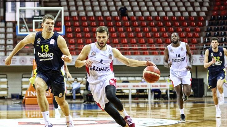Gaziantep Basketbol evinde mağlup