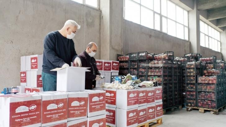 Esnafa destek halka şifa paketlerinin dağıtımı başladı