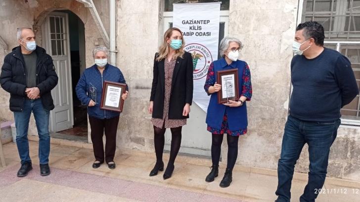 Gaziantep Kulübü'nün özel ödülü sağlıkçılara