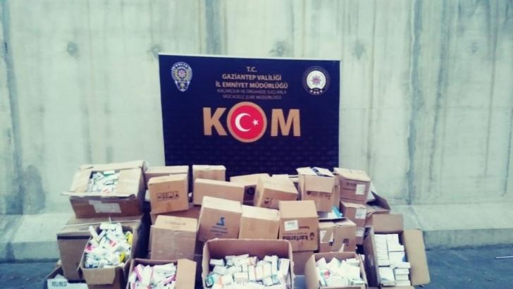 81 bin paket kaçak ilaç yakalandı