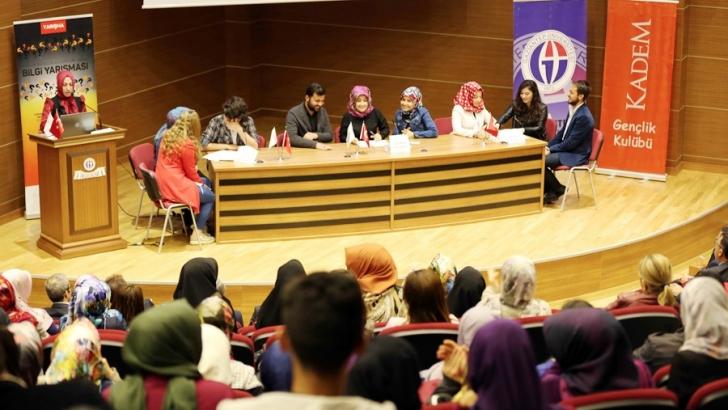 Bilgi yarışmasının birincisi GAÜN öğrencileri