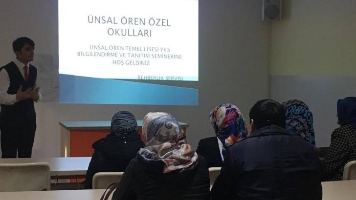 """Ünsal Ören'den """"YKS"""" semineri"""