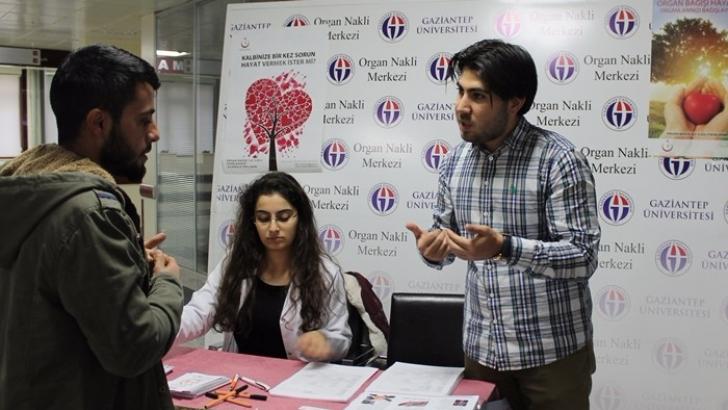 Gaziantep'te organ bağışı kampanyasına destek