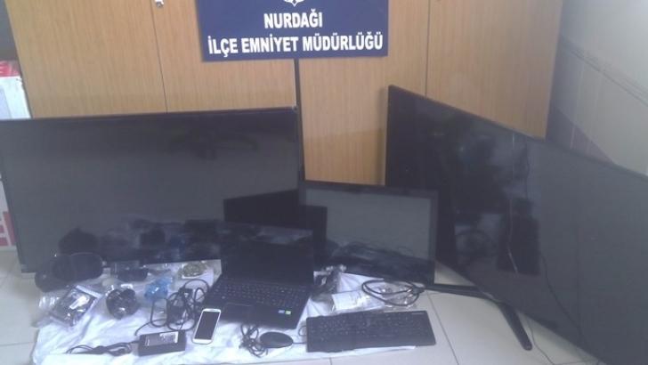 Gaziantep'te okulu soyan hırsızlar yakalandı