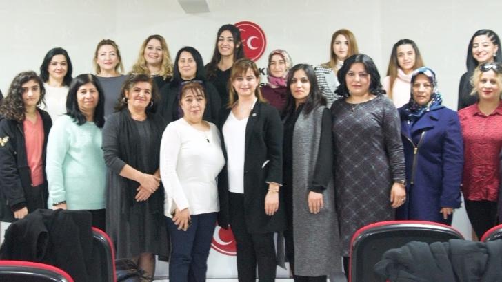 MHP Kadın Kollarının yeni yönetimi toplandı