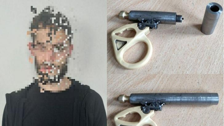 Şüpheli şahsın üzerinden suikast silahı çıktı