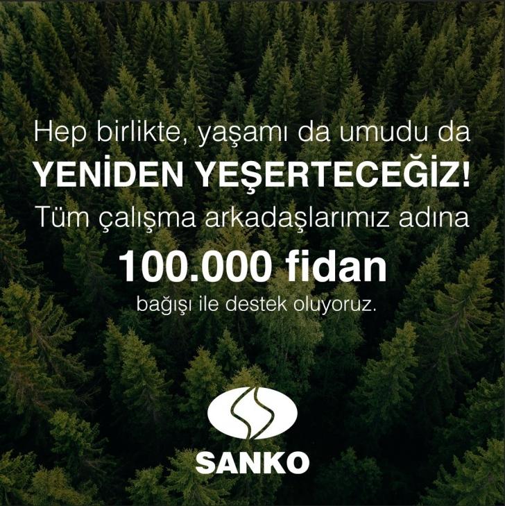 SANKO'dan 100.000 fidan