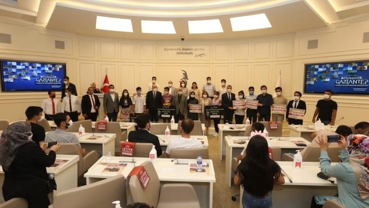 Gaziantep'te mektup ve rap yarışmalarında derece alanlar ödüllerine kavuştu