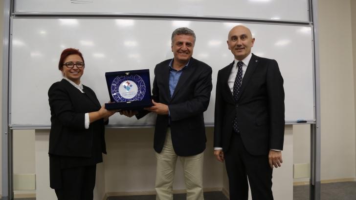 HKÜ, Gazeteci Fuat Kozluklu'yu ağırladı