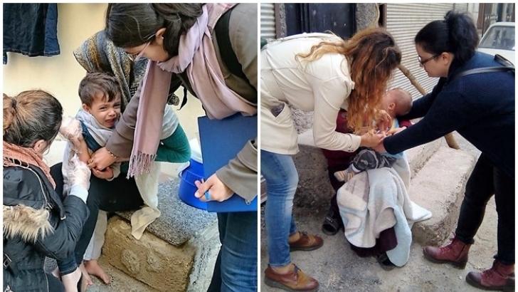 Suriyeli çocuklar için aşı kampanyası